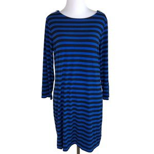 MICHAEL KORS Zipper Stripe Sheath Dress Medium